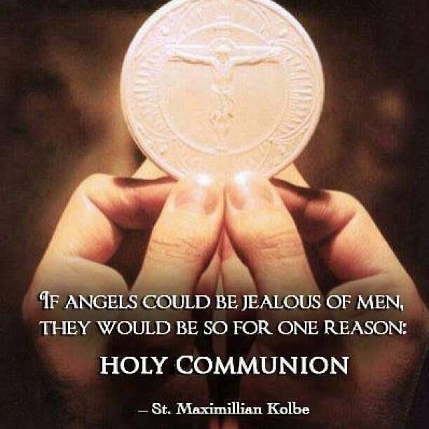 Holy Communion Saint Maximillian Kolbe